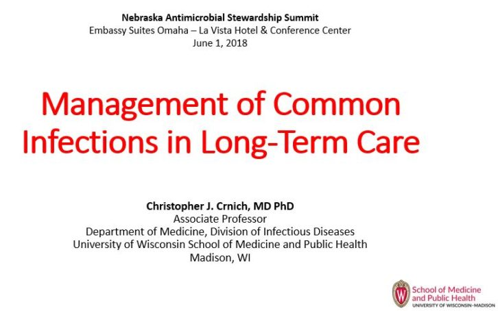 Management of Common Infections in Long-Term Care